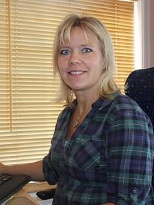 Kristina Andersson, administration Anderssons Trähusfabrik